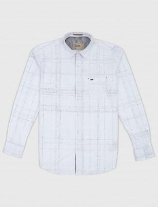 EQIQ cotton fabric white colored shirt