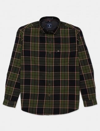 Eqiq green checks casual cotton shirt