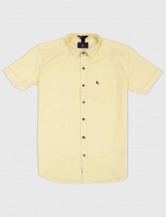 EQIQ lemon yellow cotton shirt