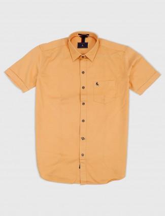 EQIQ peach hued solid shirt