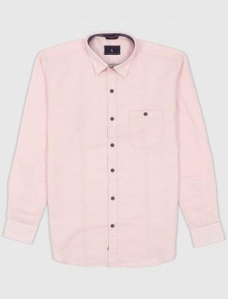 EQIQ pink cotton fabric casual shirt