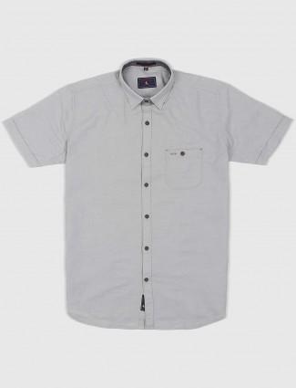 EQIQ slim fit grey hued shirt