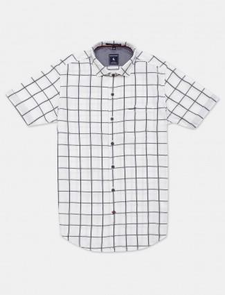 Eqiq white checks shirt casual wear