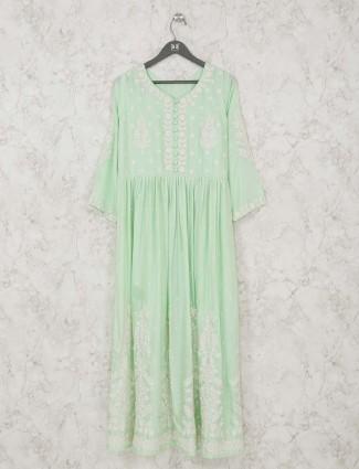 Festive wear green tunic style kurti