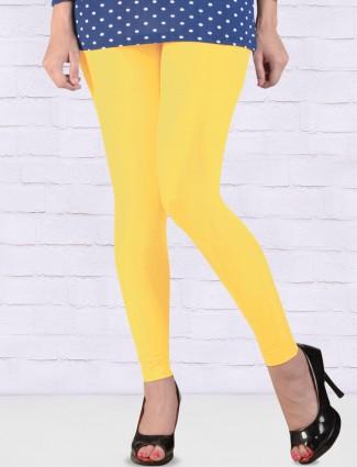 FFU bright yellow solid ankal length leggings