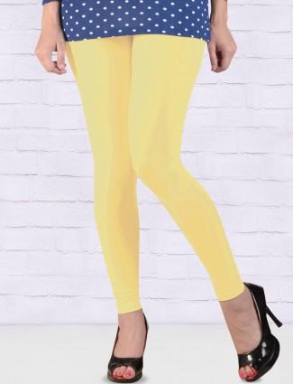 FFU lemon yellow colored ankal length leggings