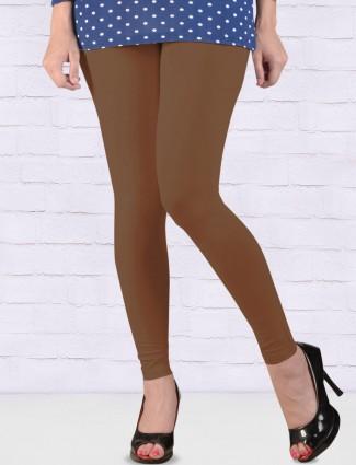 FFU light brown cotton ankal length leggings