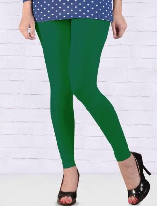FFU simple green color ankal length leggings