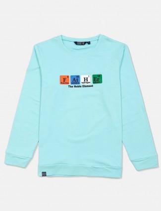 Freeze aqua cotton sweatshirt