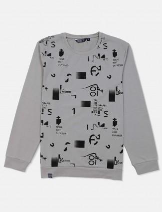Freeze grey casual wear printed sweatshirt
