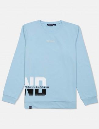 Freeze light blue cotton printed sweatshirt