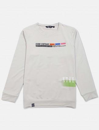 Freeze light grey printed cotton t-shirt
