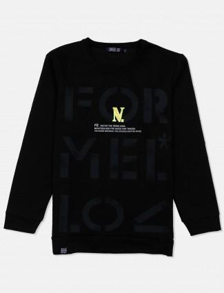 Freeze mens black cotton casual sweatshirt