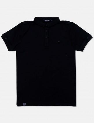 Freeze office wear polo black t-shirt