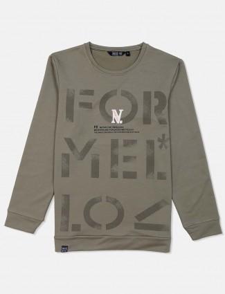 Freeze olive printed sweatshirt