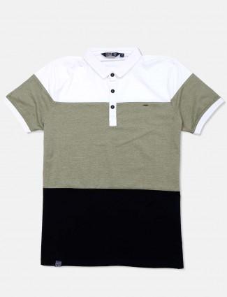 Freeze olive solid cotton mens t-shirt