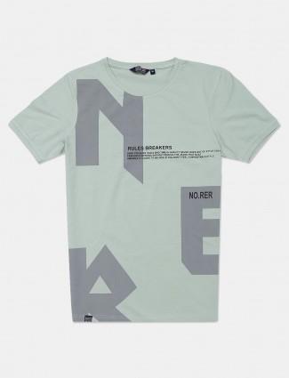 Freeze pista green printed cotton t-shirt