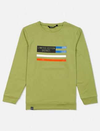 Freeze round neck printed cotton sweatshirt