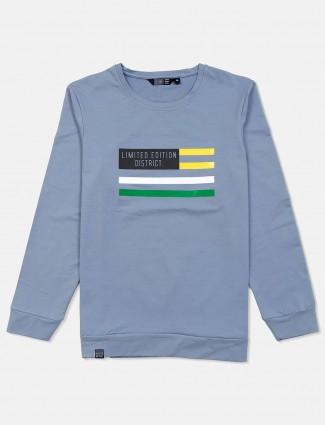 Freeze stone grey casual full sleeves sweatshirt