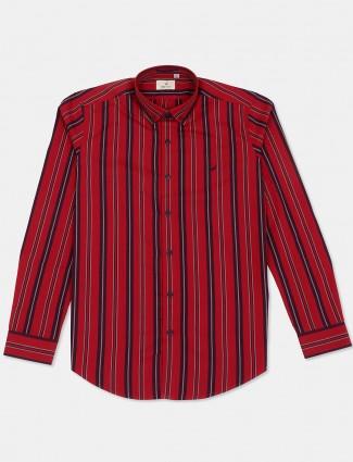 Frio red stripe casual wear shirt