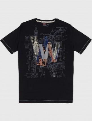 Fritzberg black printed simple t-shirt