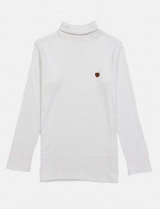 Fritzberg cotton white solid t-shirt