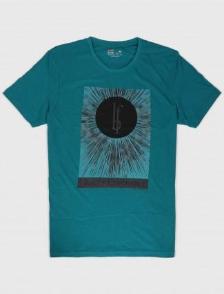 Fritzberg green cotton fabric t-shirt