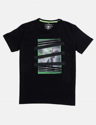 Fritzberg mens black printed t-shirt
