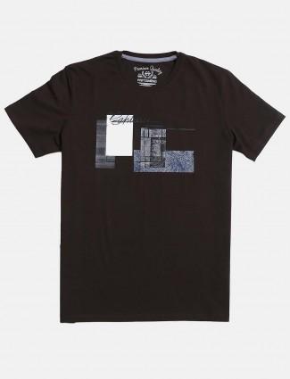 Fritzberg olive printed round neck t-shirt