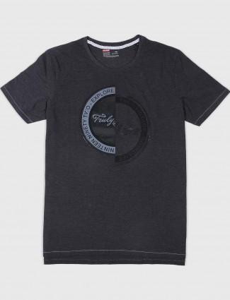 Fritzberg solid black cotton t-shirt