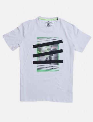 Fritzberg white printed mens t-shirt