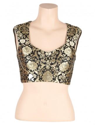 G3 exclusive black brocade readymade blouse