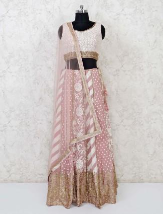 Georgette beautiful pink lehenga choli
