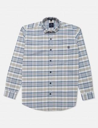 Gianti blue checks patern cotton shirt
