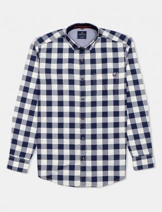 Gianti blue checks patern shirt