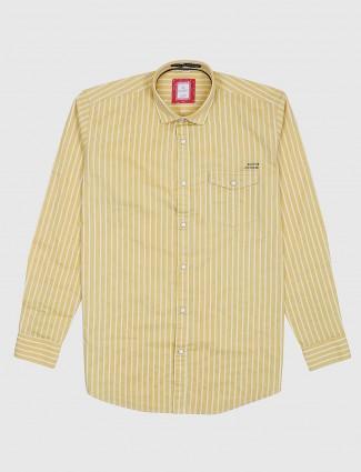 Gianti yellow hue stripe pattern shirt