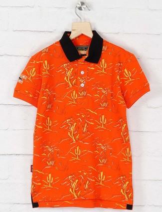 Gini and Jony bright orange colored t-shirt