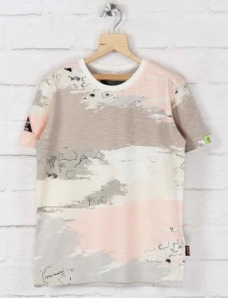 Gini and Jony grey and white printed t-shirt
