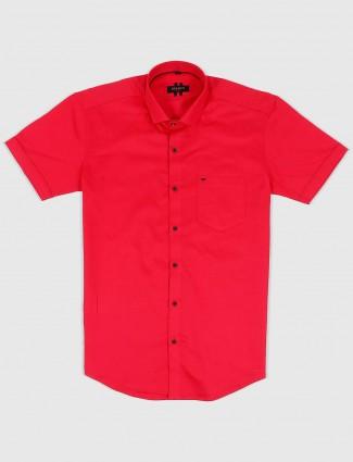 Ginneti magenta hued solid shirt