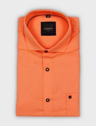 Ginneti presented solid orange hue shirt