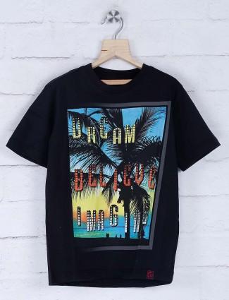 Giraffe black printed t-shirt