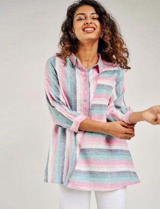 Global Desi latest multi color western top for women