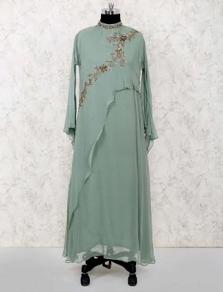 Green color georgette designer salwar suit