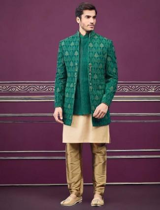绿夹克风格的棉丝设计师半印度西部
