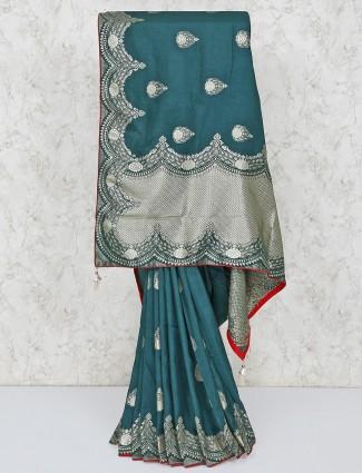 Green silk gorgeous saree