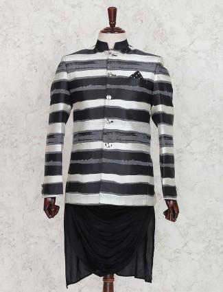 Grey and black stripe indo western