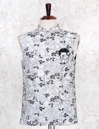 Grey cotton mens waistcoat