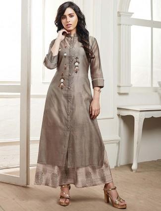 Grey hue gorgeous cotton kurti
