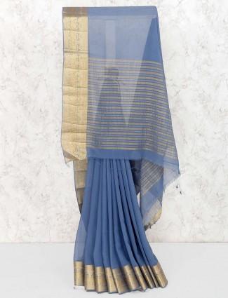 Grey hue lovely pretty saree