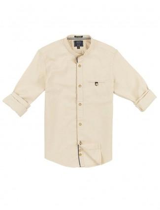 Indian Terrain beige solid cotton shirt